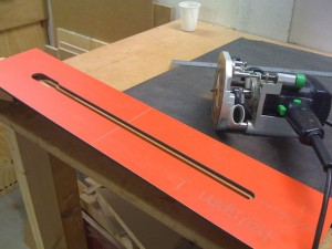 Routing truss rod cavity