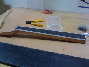 Neck with beautifully applied binding
