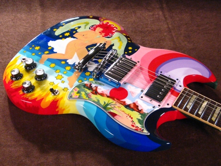 And another replica Fool guitar