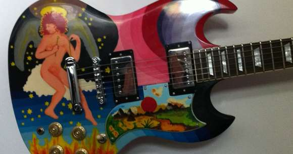 "Finished replica of Eric Clapton's ""The Fool"" guitar"